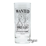 One Piece - Verre Monkey D Luffy Wanted Abystyle
