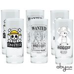 One Piece - Assortiment 6 verres Skull, luffy wanted & Chopper Abystyle