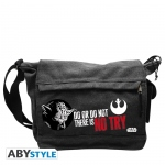 Star Wars Sac Besace Yoda there is no try Grand Format Abystyle