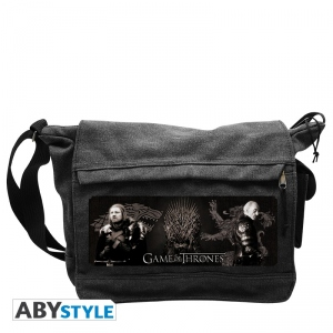 Game Of Thrones Sac Besace Eddard Stark & Tywin Lannister Grand Format Abystyle
