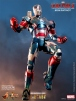 "Iron Man 3 Iron Patriot die cast 12"" Hot Toys"