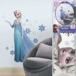 La Reine Des Neiges Stickers Géant Repositionnable Elsa & Paillettes