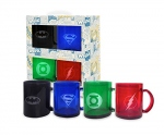 DC Comics pack 4 mugs Heroes Batman Green Lantern Superman Flash