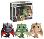 Game of Thrones pack 3 POP! Vinyl figurines Drogon, Rhaegal & Viserion Funko