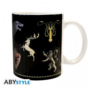 Game Of Thrones Mug 320 ml Sigles Noir Abystyle