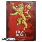 Game Of Thrones Plaque Métal Lannister Hear me roar Abystyle