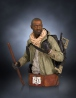 The Walking Dead buste Deluxe Morgan Jones Gentle Giant