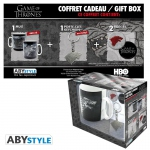 Game of Thrones Coffret cadeau Stark mug + porte-clés + badges Abystyle