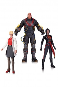 Batman Arkham Origins pack figurines  Electrocutioner Shiva Harleen Quinzel DC Collectibles