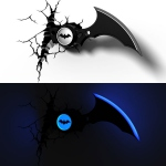 Batman Lampe décorative 3D  Batarang 3D Light FX