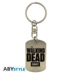 The Walking Dead Porte-Clés Plaque Militaire Logo Abystyle