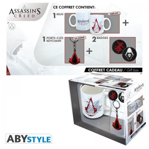 Assassin's Creed Pack Mug + Porte-clés + Badges Abystyle