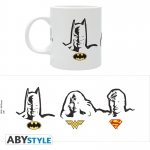 DC Comics Mug 320ml Batman Superman Wonder Woman sigles Abystyle