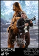 """Star Wars Episode VII pack 2 figurines Movie Masterpiece Han Solo & Chewbacca 12"""" Hot Toys"""