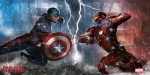 Captain America Civil War poster en verre Duel 60 x 30 cm
