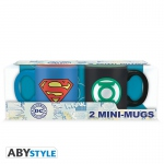 DC COMICS Set 2 mini-mugs 110 ml Superman & Green Lantern Abystyle