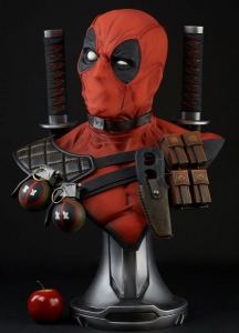 Marvel Comics buste 1/1 Deadpool Sideshow