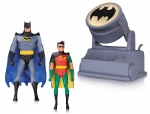 Batman The Animated Series pack 2 figurines Batman & Robin with Bat-Signal DC Collectibles