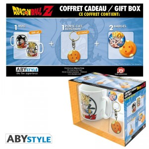 Dragon Ball Z Pack Mug + Porte-clés + Badges Abystyle