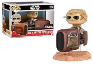 Star Wars Episode VII POP! 174 Bobble Head Rey with Speeder Funko