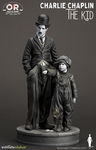 Charlie Chaplin The Kid Old & Rare Statue Infinite
