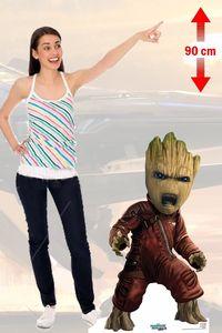 Guardians Of The Galax Baby Groot Silhouette Taille Réelle Cutout 90 cm