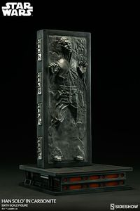 """Star Wars figurine Han Solo in Carbonite 12"""" Sideshow"""