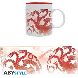 Game Of Thrones mug 320 ml Red Dragons Targaryen Abystyle