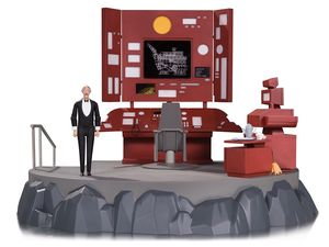 Batman The Animated Series diorama Batcave avec figurine Alfred DC Collectibles