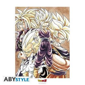 Dragon Ball Z Collector Artprint Saiyans 50x40 cm Abystyle