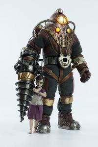 BioShock pack 2 figurines Subject Delta & Little Sister ThreeZero