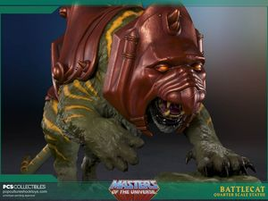 Masters of the Universe Battle-Cat Statue Pop Culture Shock