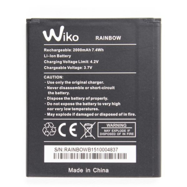 Batterie Interne Originale Officielle Wiko Rainbow