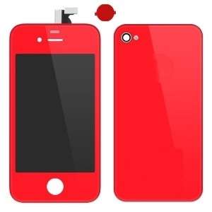 Kit De Transformation Complet Compatible iPhone 4 ROUGE