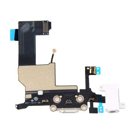 Nappe Connecteur de Charge Lightning / Jack / Micro iPhone 5 Blanc