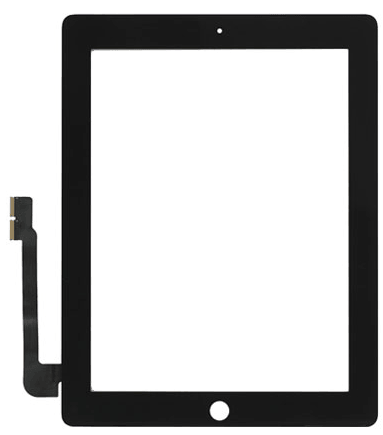 Vitre Tactile Compatible iPad 4 + Stickers 3M NOIR