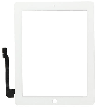 Vitre Tactile Compatible iPad 4 + Stickers 3M BLANC