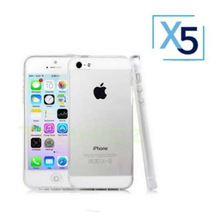 Lot x5 Coque de Protection Transparente iPhone 5 / 5S