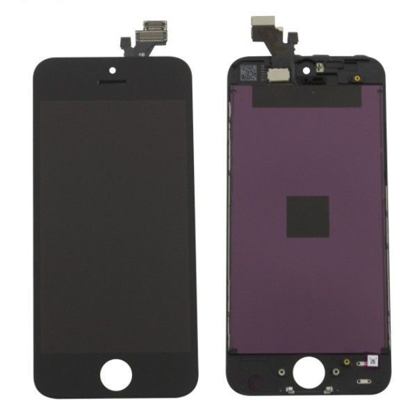 Ecran lcd complet iphone 5 noir original lapommediscount for Ecran photo iphone noir
