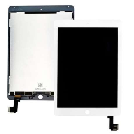 Bloc Vitre Tactile + Ecran LCD Compatible iPad Air 2 BLANC