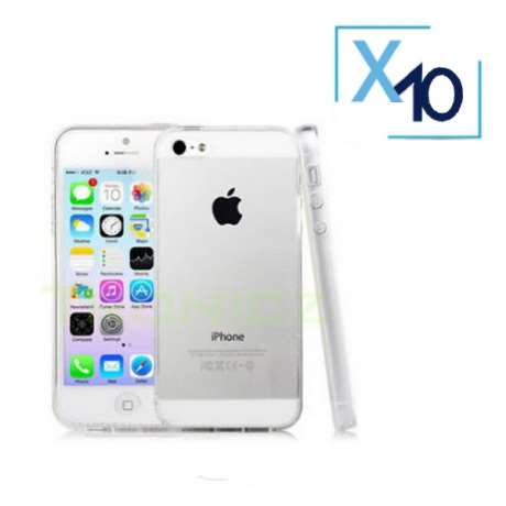 Lot x10 Coque de Protection Transparente iPhone 5 / 5S