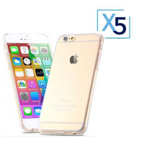 Lot x5 Coque de Protection Transparente iPhone 6 / 6S Plus