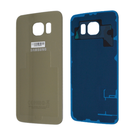 Vitre Arrière Compatible Samsung Galaxy S6 Gold Or