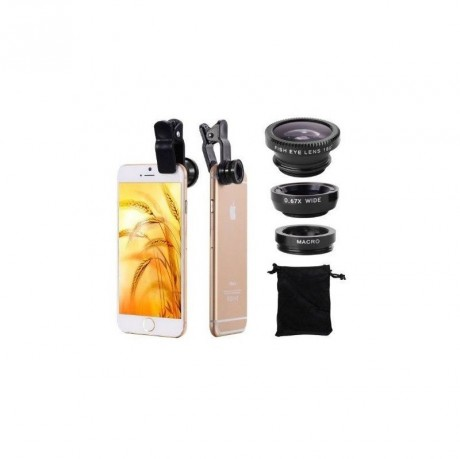 Objectif Photo FishEye 3 en 1 Universel