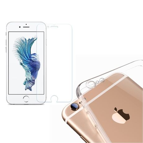 Coque de Protection TPU Transparente + Verre Trempé iPhone 8