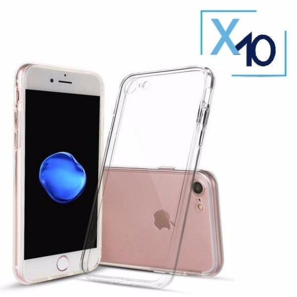 Lot x10 Coque de Protection Transparente iPhone 7 / 8