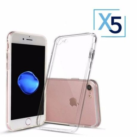 Lot x5 Coque de Protection Transparente iPhone 7 / 8