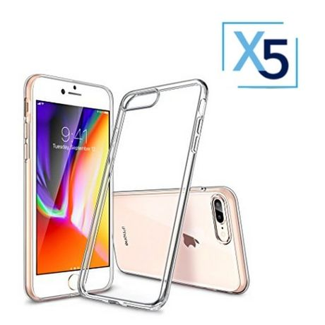 Lot x5 Coque de Protection Transparente iPhone 7+ / 8+