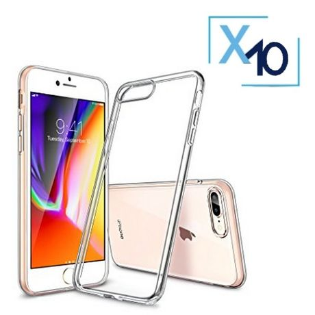 Lot x10 Coque de Protection Transparente iPhone 7+ / 8+