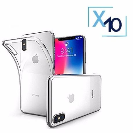 Lot x10 Coque de Protection Transparente iPhone X